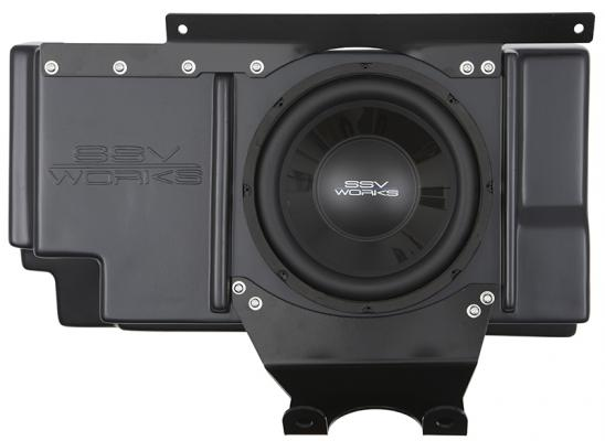 Polaris RZR XP 1000 / XP 4 1000 Behind Seat Weather Proof Sub Box with Amplified 10