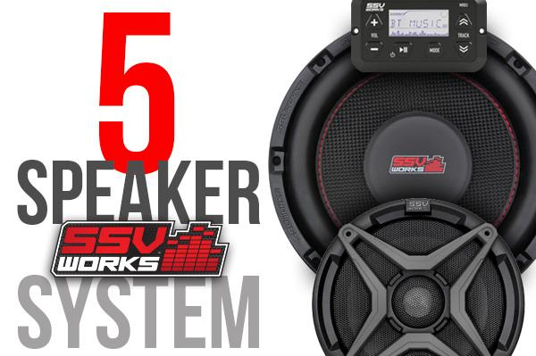 Polaris RZR XP1000 Complete SSV Works 5-Speaker Plug-&-Play Audio System