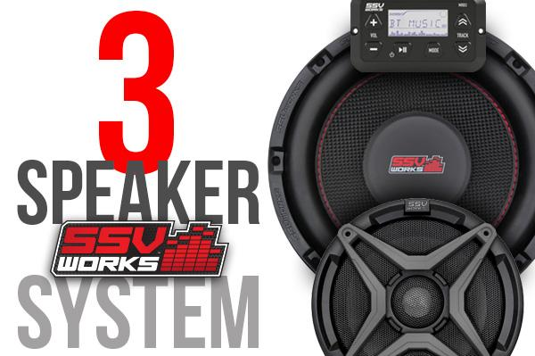 Polaris RZR XP1000 Complete SSV Works 3-Speaker Plug-&-Play Audio System
