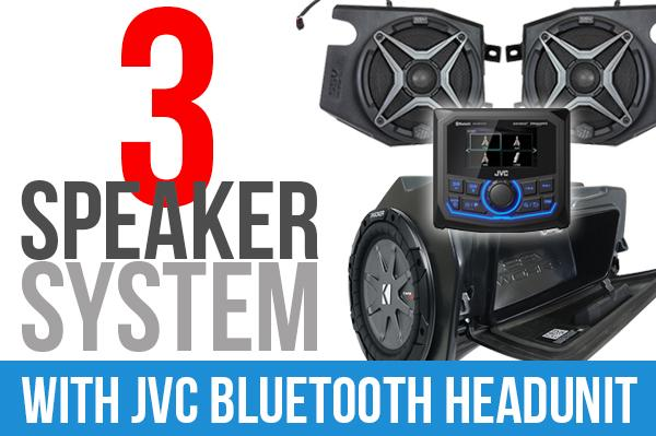 Polaris RZR XP 1000 complete SSV Works 3-Speaker Plug-and-Play System with JVC