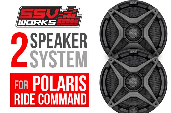 Polaris RZR XP1000 with Ride Command complete SSV Works 2 speaker Plug-and-Play system