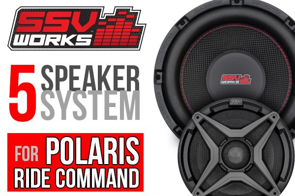 Polaris RZR XP1000 with Ride Command Complete SSV Works 5-Speaker Plug-&-Play Audio System