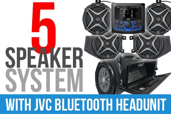 Polaris RZR XP1000 Complete SSV Works 5-Speaker Plug-&-Play System with JVC