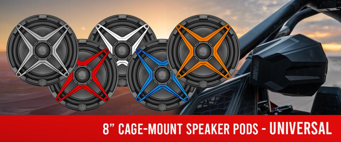 https://www.ssvworks.com/product/Universal-8-inch-Cage-Mount-Speaker-Pods-Including-Dual-Clamps